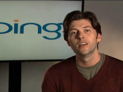 Stefan Weitz, director of Bing search.