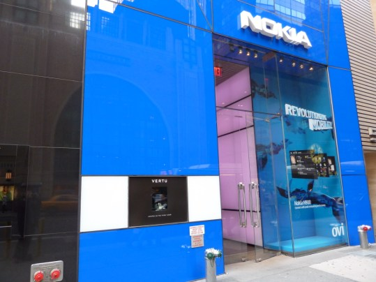 The NYC Nokia store on 57th Street