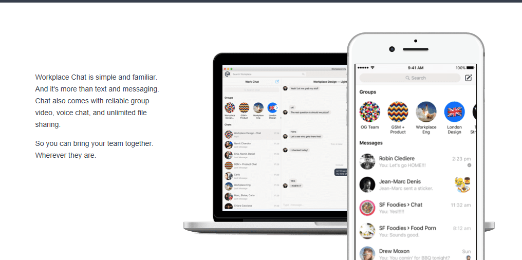 You can now download Facebook's Workplace Chat app for