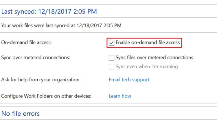 Windows-Work-Folder-On-Demand-File-Access