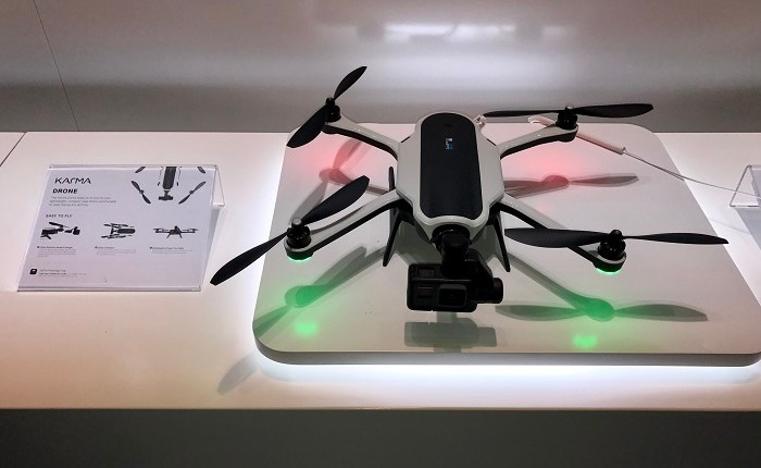 2_GoPro Karma drone in shop