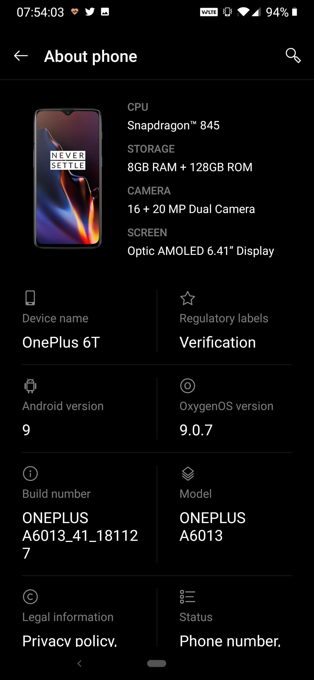 Update 2: How to get VoLTE and WiFi Calling on a Oneplus 6T on