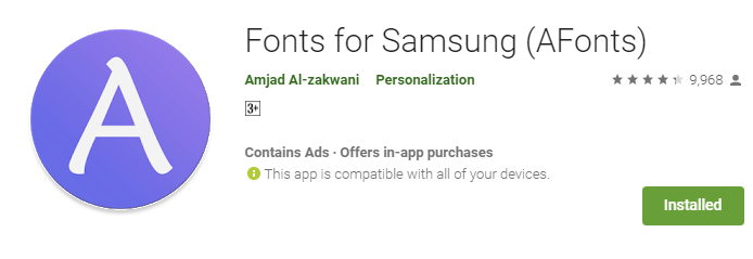 AFonts - A Font Changing App Only For Samsung - OneTechStop