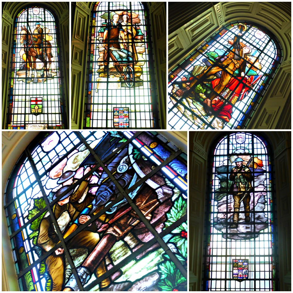 Stained Glass Windows Depicting Battles from WWI in Kingston's City Hall