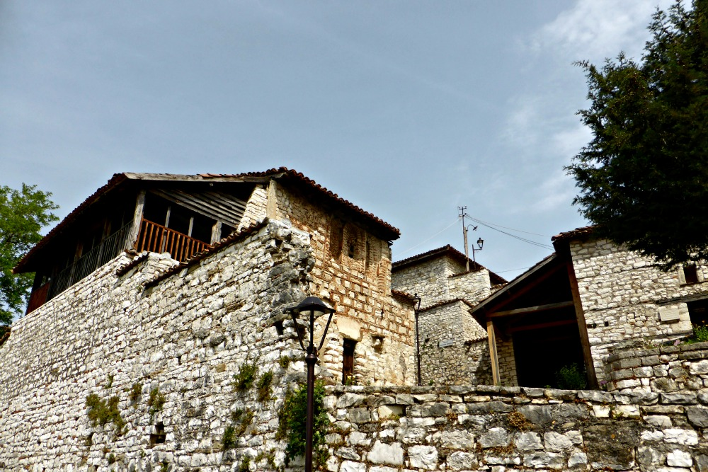 Homes within walls of Berat castle, Albania