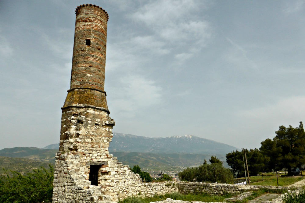 Red Mosque Minaret at Berat Castle, Albania