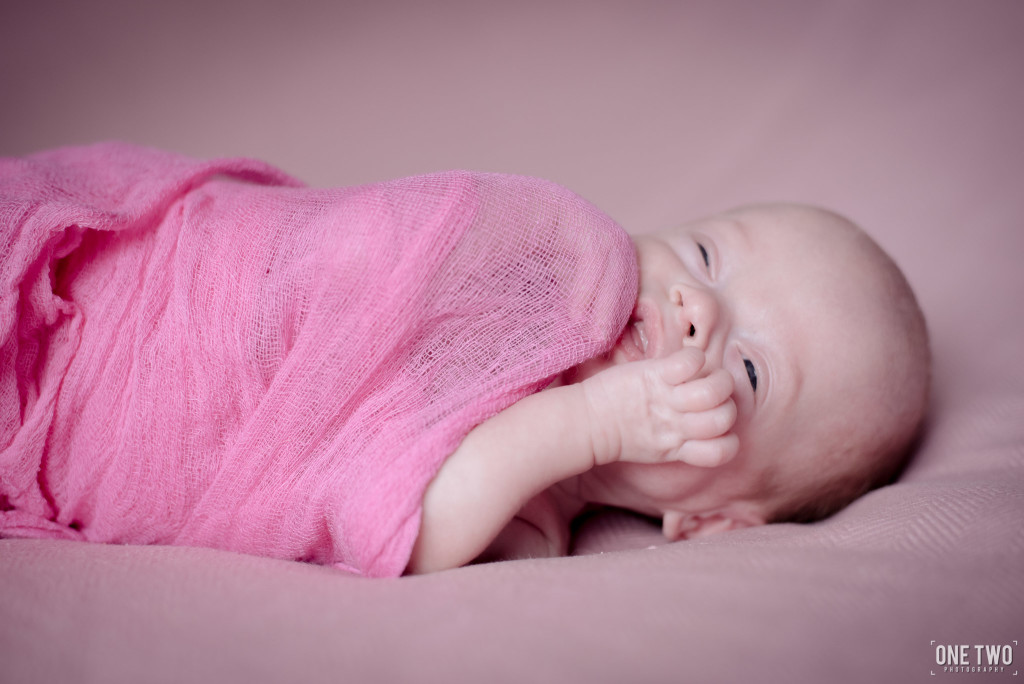 baby girl laughing newborn photography