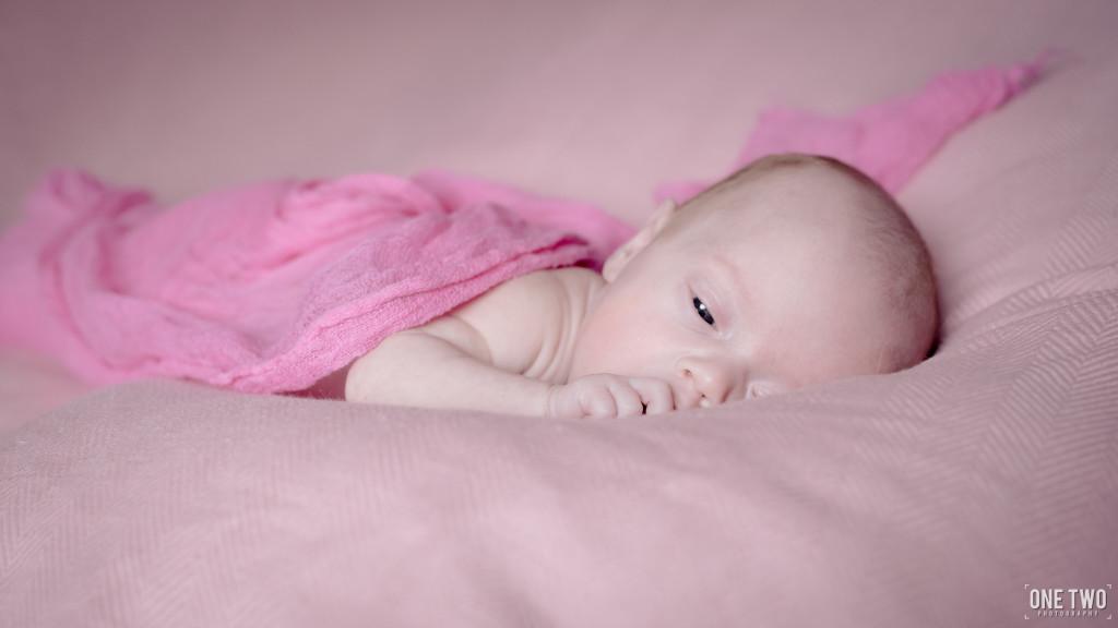 baby girl pink newborn photography