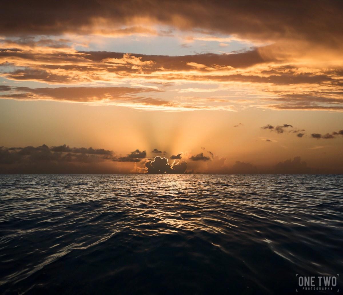 barbados ocean sunset