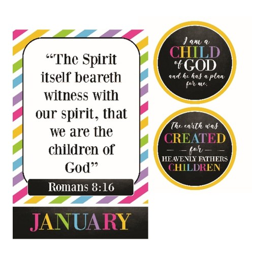 2018 Primary Theme and Scripture posters