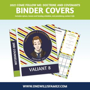 2021 Doctrine and Covenants Binder Covers