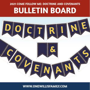 2021 Doctrine and Covenants banner
