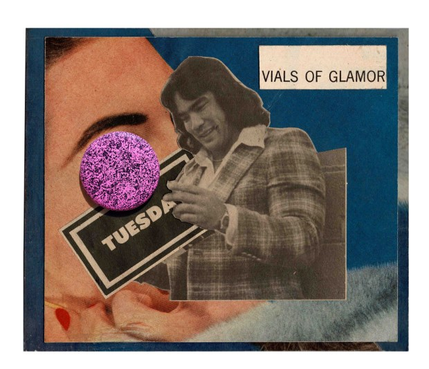 Vials of Glamor (Button Collage)