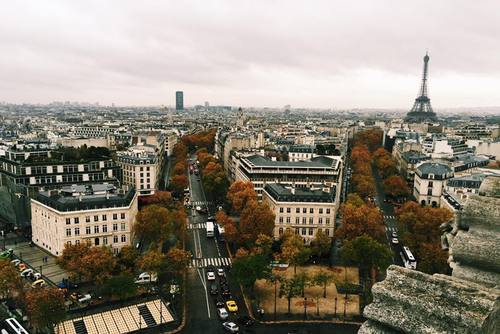 Climbing the Arc de Triomple