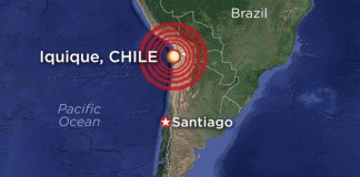 Earthquake strikes in Chile!