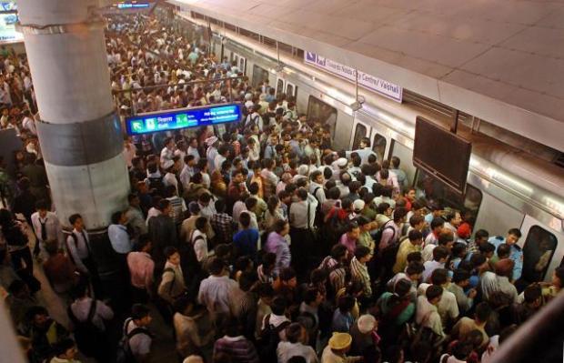 Crowded Metro