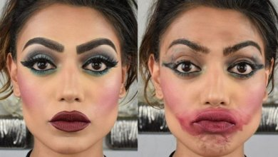 Too much make-up
