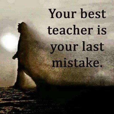 Failure is our greatest teacher