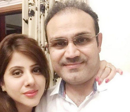 Sehwag and his wife