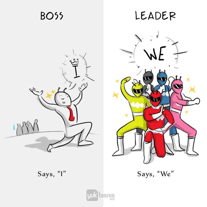 difference between boss and leader images