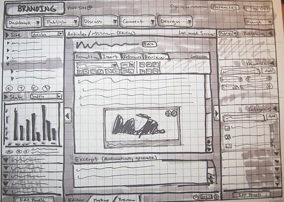 40 Brilliant Examples of Sketched UI Wireframes and Mock Ups Librespeak Interface Sketch