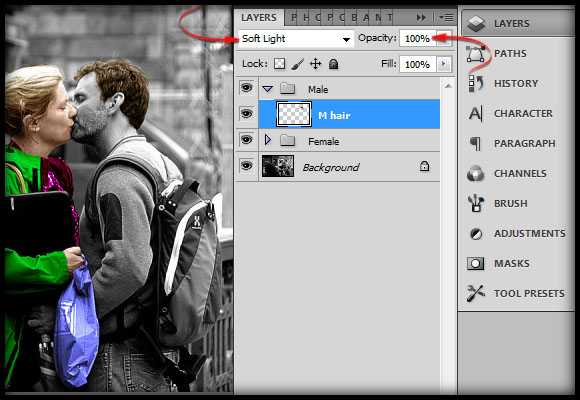 image-22 Working with Photoshop's Blending Modes to Color a Black and White Photo