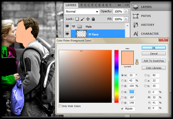 image-23 Working with Photoshop's Blending Modes to Color a Black and White Photo