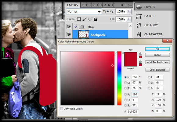 image-32 Working with Photoshop's Blending Modes to Color a Black and White Photo