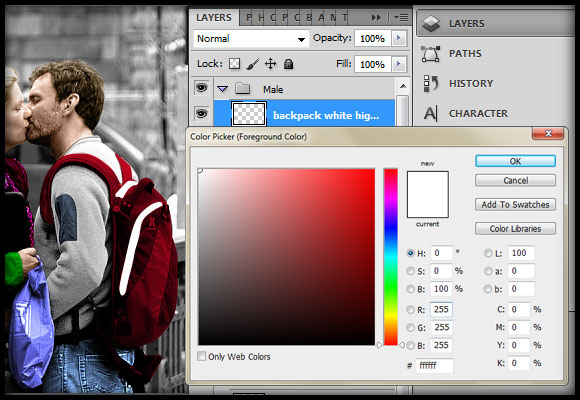 image-36 Working with Photoshop's Blending Modes to Color a Black and White Photo
