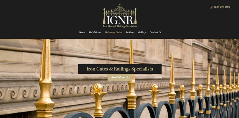 1-Iron-Gates-and-Railings Attention to Branding: 20 Websites with Beautiful Logotypes