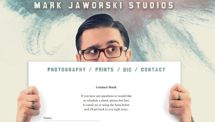 Mark-Jaworski-Studios Contact Us Page Best Practices with 22 Fantastic Examples
