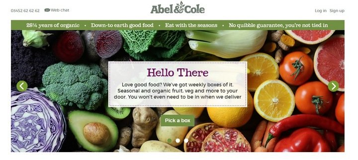 abel-cole 5 Tips and Tricks For An Effective eCommerce Site With 10 Brilliant Examples