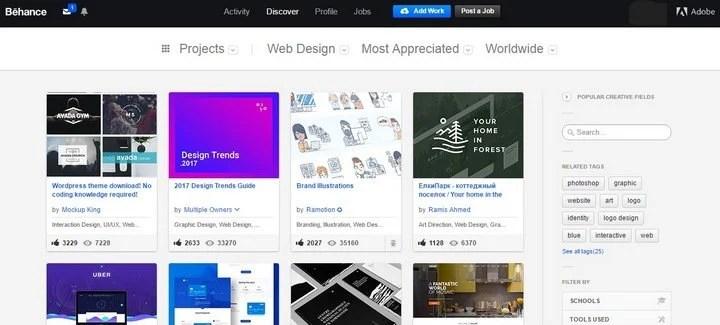 behance 15 Amazing CSS Web Design Galleries