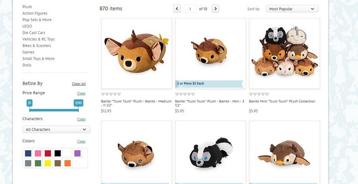 disney-store 5 Tips and Tricks For An Effective eCommerce Site With 10 Brilliant Examples