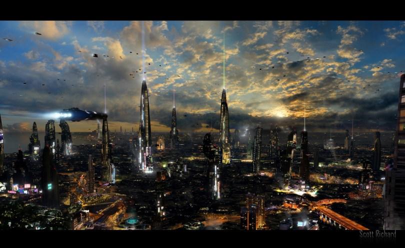 futuristic-city-4 34 Breathtaking Examples of Sci-Fi Art Found on Deviant Art
