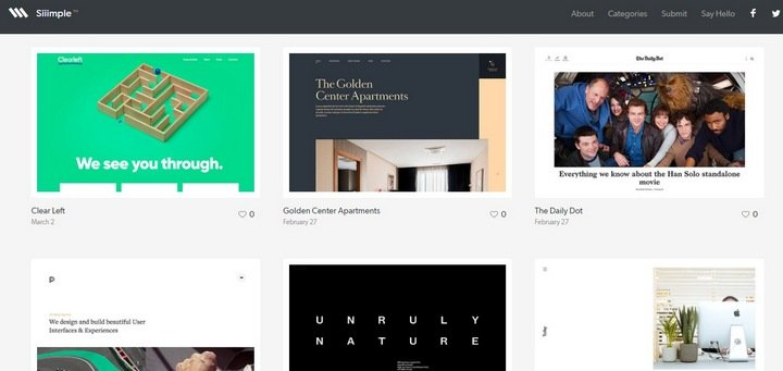siiimple 15 Amazing CSS Web Design Galleries
