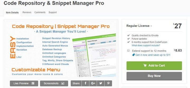 snippet-manager-pro 15 Useful Code Snippet Tools That Will Help You Store And Manage Your Code Library