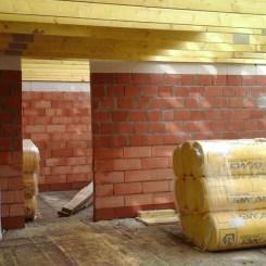 Le mur porteur de l'étage