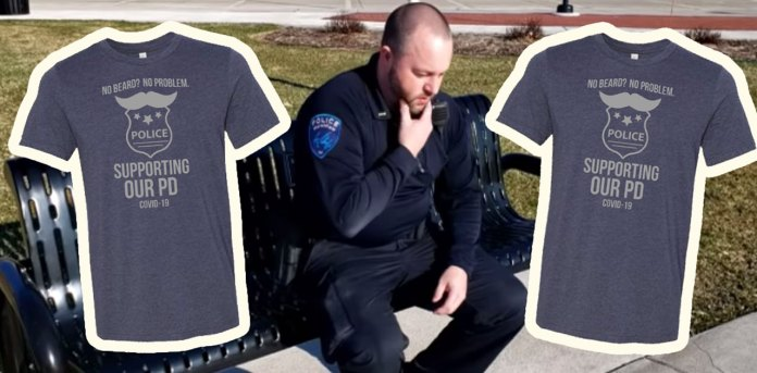 police mustache shirts