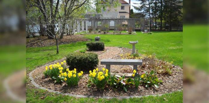 Upham Mansion Gardens in Marshfield, WI