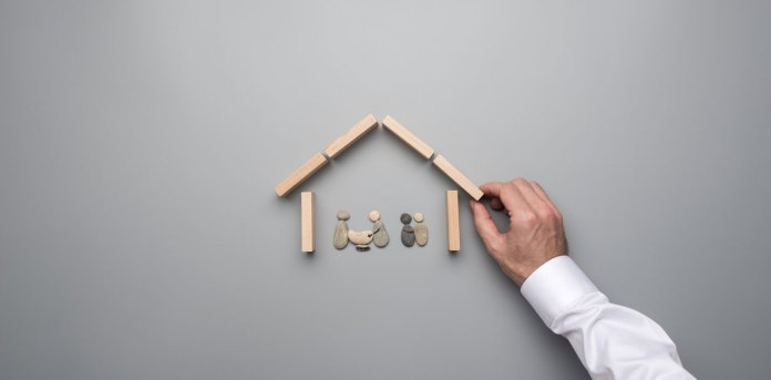 concept image save on home insurance