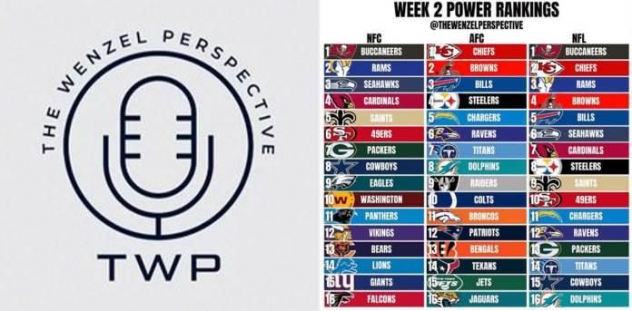 Week 2 NFL Power Rankings