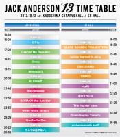 Jack Anderson'13 全ラインナップ&タイムテーブル発表