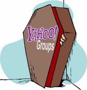Yahoo groups in a Coffin