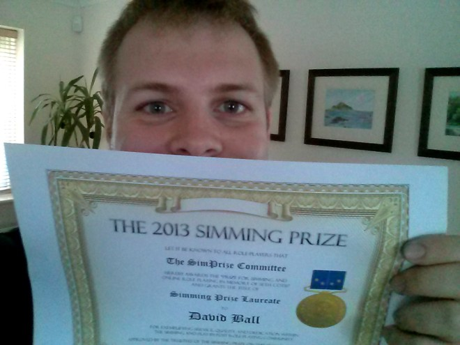 Onion with simming prize certificate