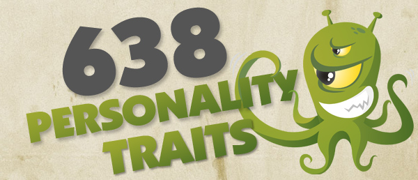 A big long list of personality traits