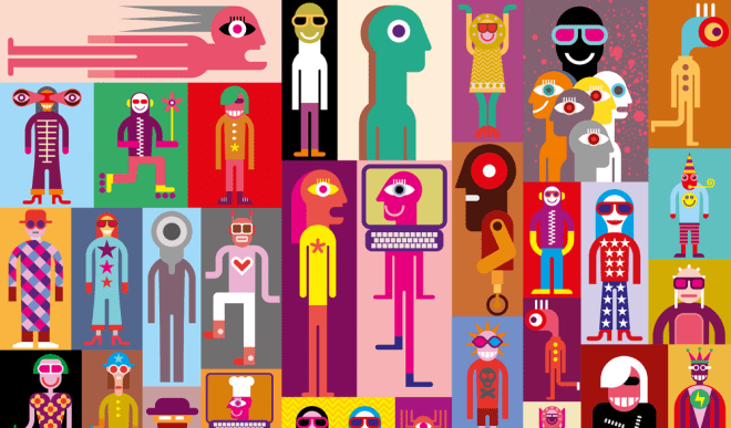 a random collage of characters