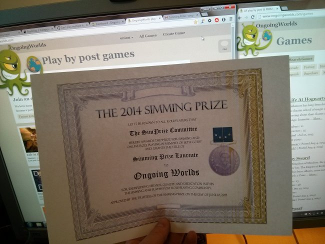 simming prize certificate 2014