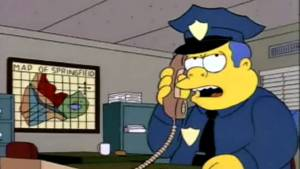 Police chief Wiggam from the simpsons