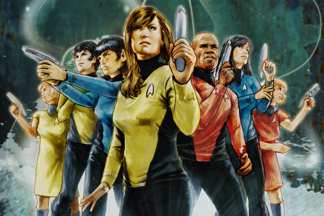 Star trek characters comic